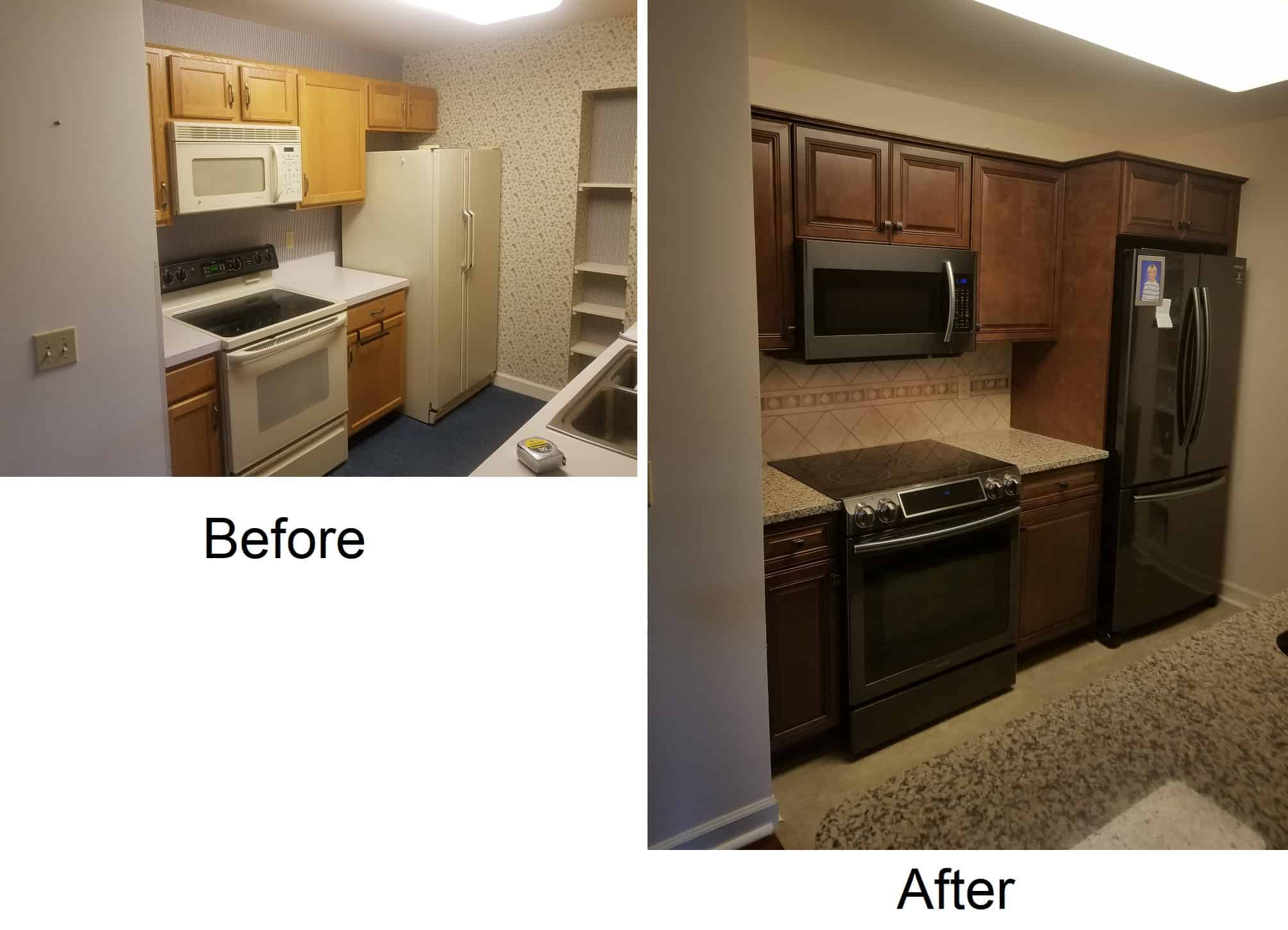 cabinet installation tyrone pa before and after