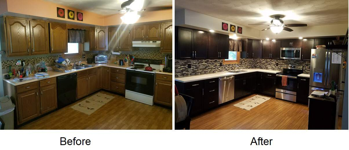 kitchen remodel altoona pa before and after