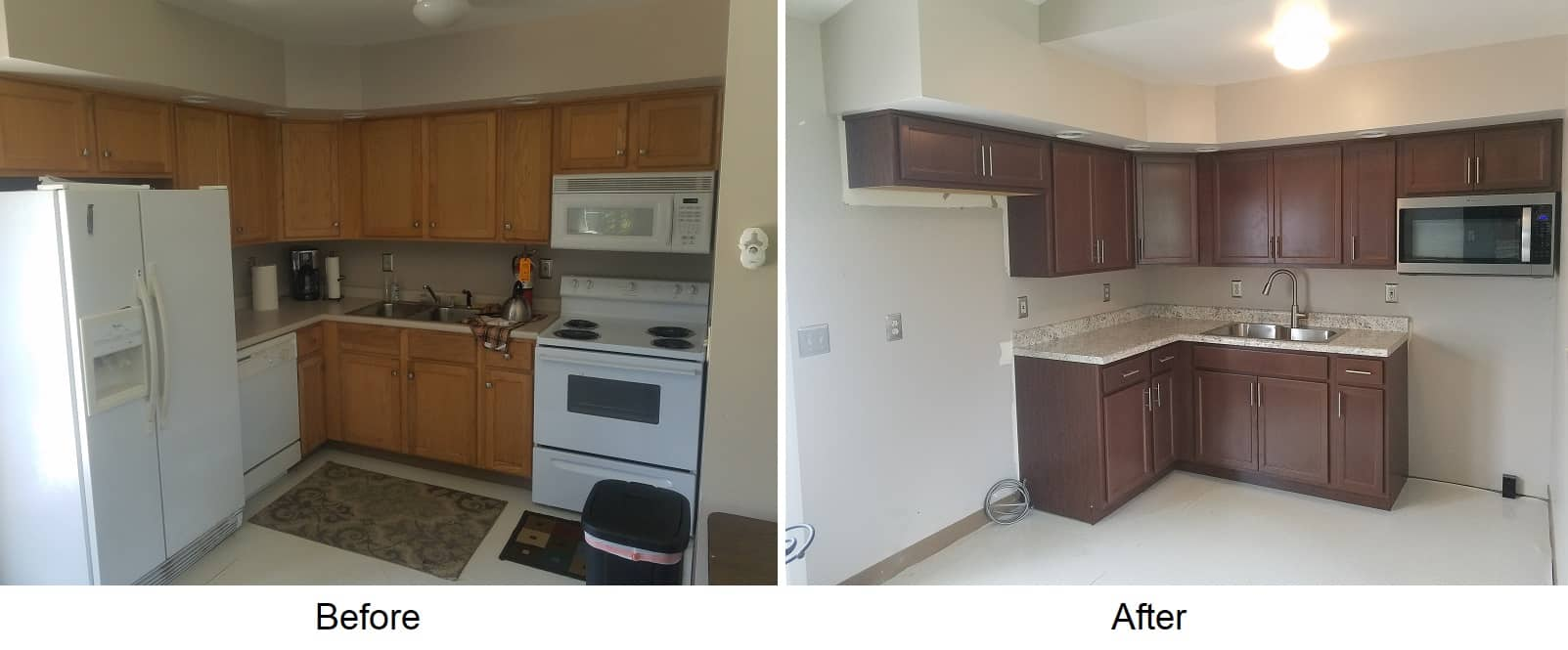 kitchen remodel state college before after